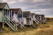 Hut Photo Posters - Old Hunstanton Beach Huts North Norfolk United Kingdom Poster by John Edwards