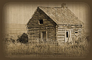 Log Cabin Art Prints - Old Hunting Cabin - Wyoming Print by Donna Van Vlack