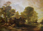 Peisaj Paintings - Old Hut  by Dan Scurtu