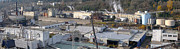 Powerlines Framed Prints - Old industrial complex panorama Oregon city OR. Framed Print by Gino Rigucci