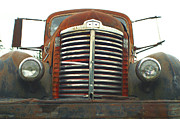 Rusted Cars Framed Prints - Old International Gravel Truck Framed Print by Randy Harris