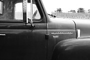 Black And White Photographs Photos - Old International Harvester Farm Truck . 7D10311 . black and white by Wingsdomain Art and Photography