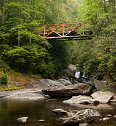 Iron Bridge Prints - Old Iron Bridge in Smoky Mountains Print by Matt Tilghman