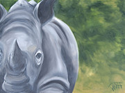 Rhinocerus Art - Old Ironsides by Thea Gilliam
