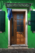 Burano Prints - Old Italian Door Print by Joana Kruse