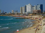 Old Jaffa Beach - Tel Aviv Israel Print by Joshua Benk