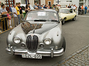 Bmw Racing Classic Bmw Photos - Old Jaguar car by Odon Czintos