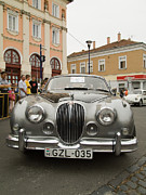 Bmw Racing Car Photos - Old Jaguar by Odon Czintos