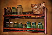 Mason Jars Art - Old Jars by Lana Trussell