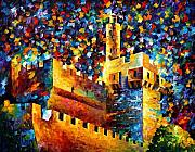 Cityscape Paintings - Old Jerusalem by Leonid Afremov