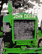 Agricultural Machinery Digital Art - Old John Deere Tractor - Utah State Fair by Steve Ohlsen