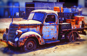 Pickup Truck Door Posters - Old junk truck Poster by Garry Gay