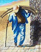 Carrier Painting Originals - Old Juriquilla man by Vivian Crowhurst