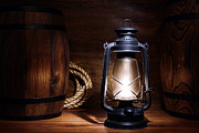 Barn Art - Old Kerosene Lantern by Olivier Le Queinec