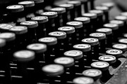 Typewriter Photos - Old Keyboard  by David Paul Murray