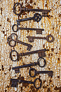 Rust Metal Prints - Old Keys Metal Print by Garry Gay