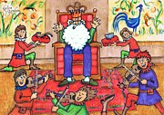 Nursery Rhyme Drawings - Old King Cole by Kerina Strevens
