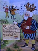 Nursery Rhyme Paintings - Old King Cole by Victoria Heryet