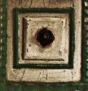 Painted Wood Prints - Old Knob Abstract Print by Marsha Heiken