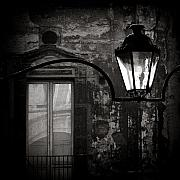 Monochrome Photos - Old Lamp by David Bowman