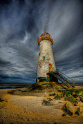 Talacre. Landmark Prints - Old Lighthouse Print by Adrian Evans