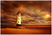 Talacre Framed Prints - Old Lighthouse Framed Print by Mal Bray
