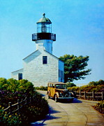National Painting Posters - Old Lighthouse Point Loma Poster by Frank Dalton