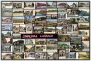 Horizon Pyrography Metal Prints - Old Ljubljana Collage Metal Print by Janos Kovac