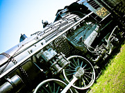 Retro Style Prints - Old Locomotive 01 Print by Michael Knight