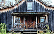Vintage Log House Posters - Old Log House2 Poster by Sandi OReilly