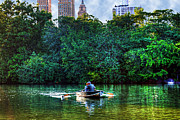 Couples Prints - Old Love and Central Park Lake Print by Randy Aveille