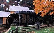 Split Rail Fence Prints - Old Mabry Mill Print by Carl Purcell