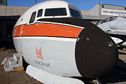 Fuselage Framed Prints - Old Macavia Douglas DC-6B Nose and Fuselage . 7D11237 Framed Print by Wingsdomain Art and Photography