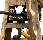 Rotation Framed Prints - Old Machine with Gears Framed Print by Yali Shi