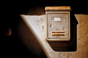 Doorbell Posters - Old mailbox with doorbell Poster by Silvia Ganora