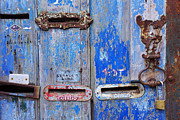 Entrance Door Photos - Old Mailboxes by Carlos Caetano