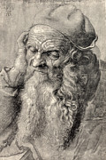 Durer Art - Old Man, Art By Durer by Sheila Terry