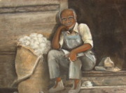 Black History Paintings - Old Man Cotton by Charles Roy Smith