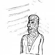Old Drawings - Old Man by Karl Addison