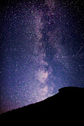 White Mountains Posters - Old Man Milky Way Memorial Poster by Robert Clifford