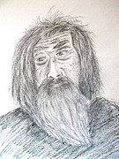 Spiritual Drawings Drawings Originals - Old man by Seshadri Sreenivasan