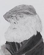 Old Drawings - Old Man With Beard by Quwatha Valentine