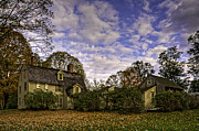 Concord Massachusetts Metal Prints - Old Manse in Autumn Glory Metal Print by Jose Vazquez