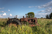Saskatchewan Prairies Framed Prints - Old Massey-Harris Tractor Framed Print by Matt Dobson