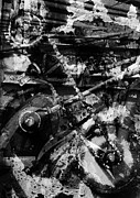 Mechanism Digital Art Metal Prints - Old Mechanism  Metal Print by Igor Kislev