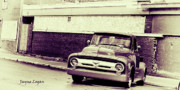 Dark Sepia Prints - Old Mercury Truck Print by Jayne Logan Intveld