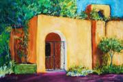 Adobe Building Pastels Posters - Old Mesilla Poster by Melinda Etzold