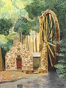 Grist Mill Paintings - Old Mill at Berry College by Rodney Campbell