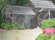 Grist Mill Paintings - Old Mill by Dawn Dreibus