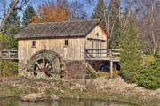 Tom Biegalski Metal Prints - Old mill in Autumn Metal Print by Tom Biegalski